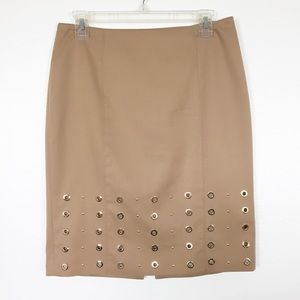 White House Black Market Pencil Camel Skirt